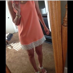 Coral Lace Sundress
